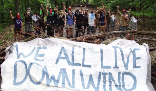 We All Live Down Wind, blockade at frack site